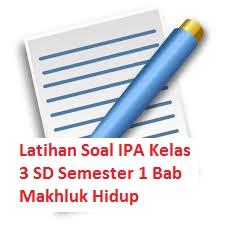 Latihan Soal IPA Kelas 3 SD Semester 1 Bab Makhluk Hidup