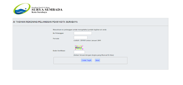 Cara Cek Tagihan PDAM Kota Surabaya Via Online