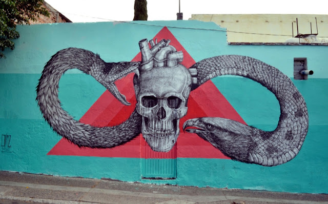 Street Art By Alexis Diaz For Board Dripper In Queretaro, Mexico. 1
