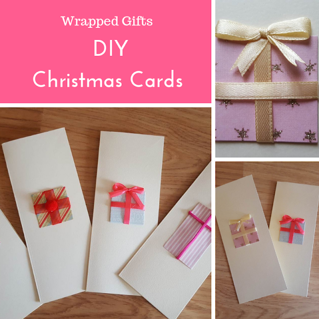 DIY Wrapped Gifts Christmas Cards