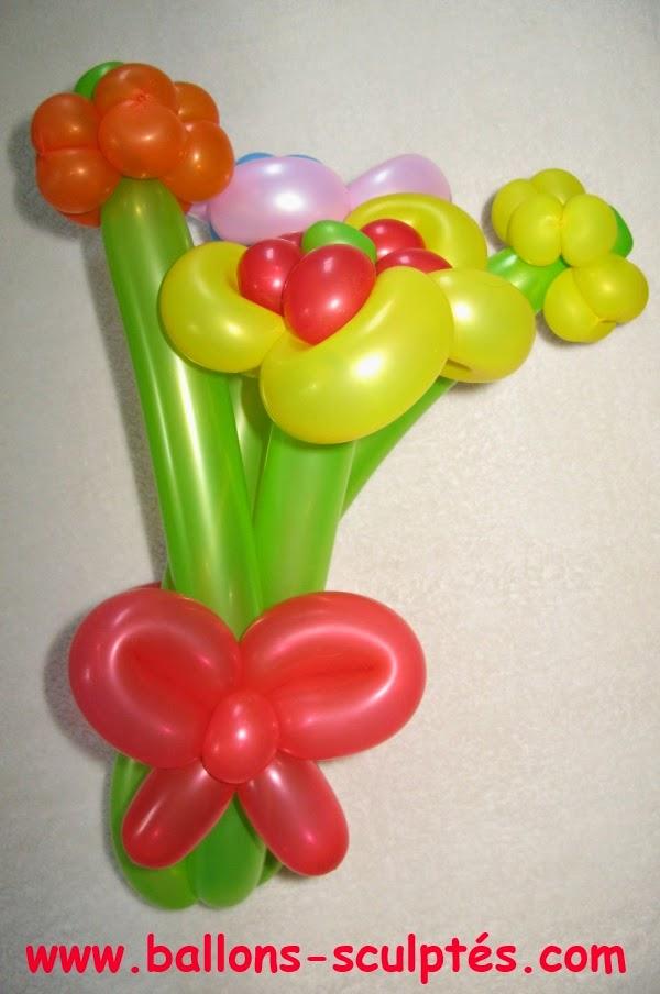 ballon bouquet de fleurs