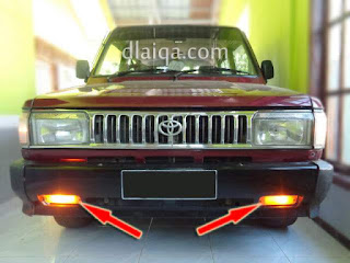 lampu sein bumper depan
