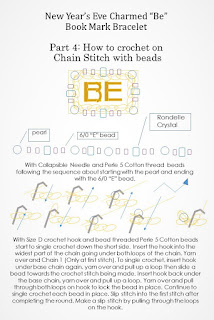How to crochet with beads on Chain Stitch