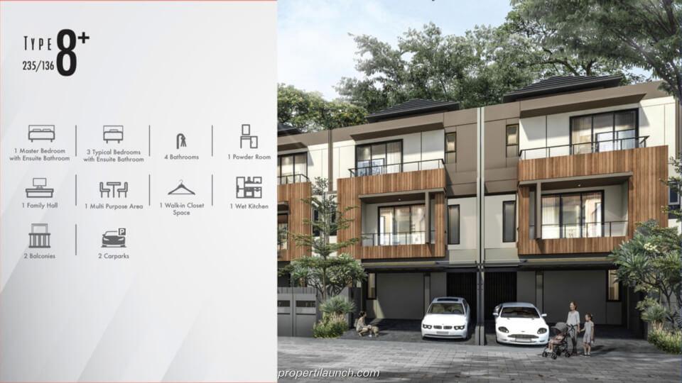 Feature Rumah Cluster Kazumi @ The Zora BSD Tipe 8+