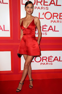 Irina Shayk In Red Frock