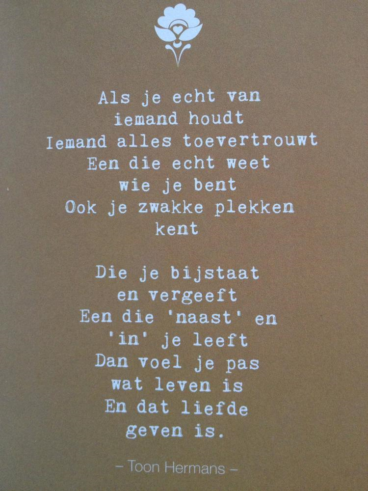 Vaak Een mooi gedicht over 'vriendschap' van Toon Hermans | Blog Ömer @QP42