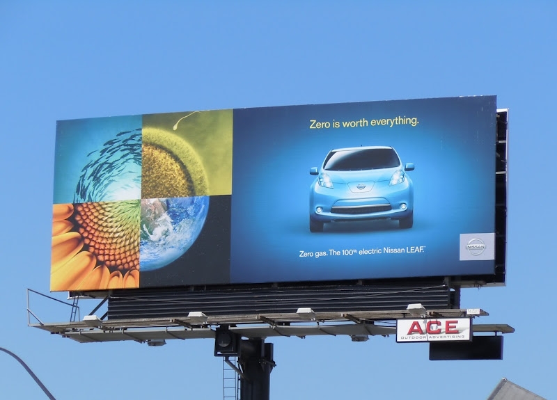 Nissan Leaf car billboard