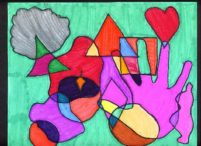 Art makes kids smart abstract art with shapes