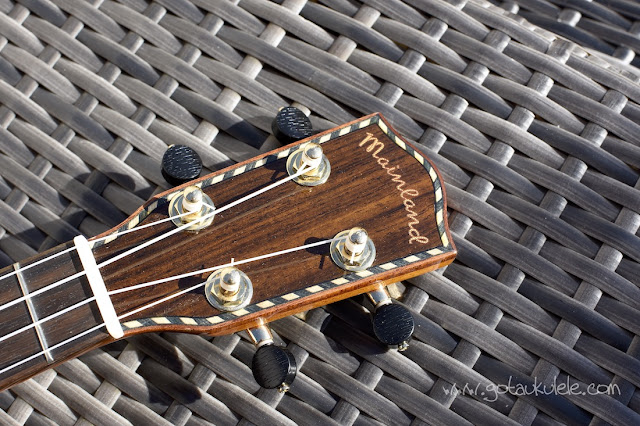 Mainland Red Cedar Gloss Soprano Ukulele headstock