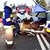 Poważny wypadek na DK31. Dwa auta zderzyły się czołowo [foto]