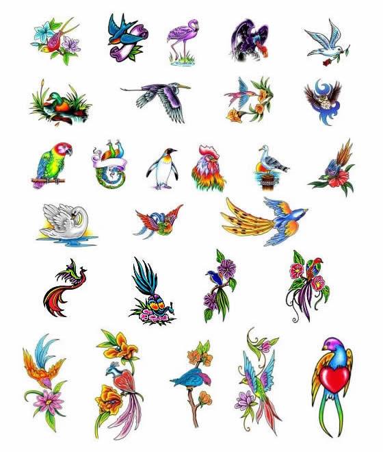 tattoo art birds