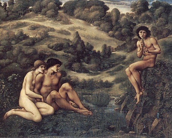 Edward Burne-Jones - El jardín de Pan - 1886-87