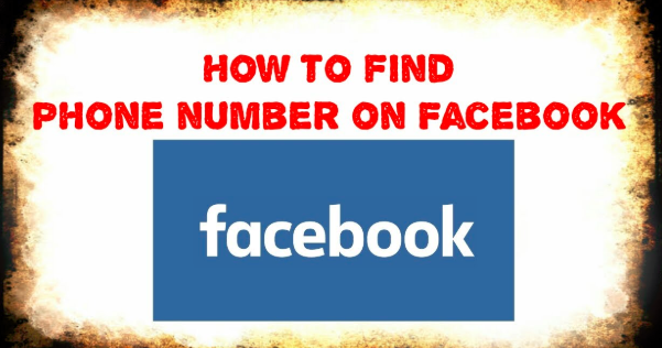 How to find friend phone number in facebook