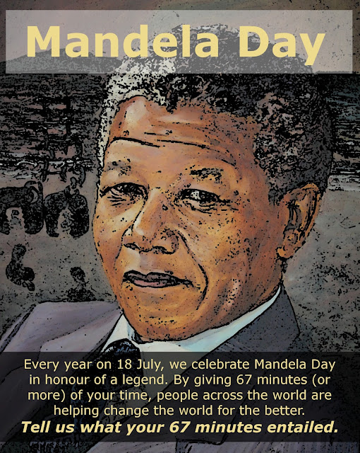 Mandela Day: Every year on 18 July, we celebrate Mandela Day in honour of a legend. By giving 67 minutes (or more) of your time, poeple across the world are helping change the world for the better. Tell us what your 67 minutes entailed.