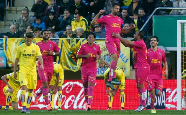 David García celebrando su primer gol en 1ªDivisión
