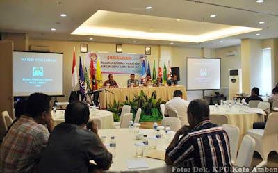 KPU Ambon Sosialisasi Pencalonan Pilwakot