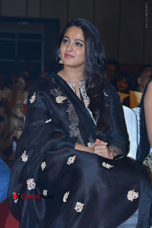 Actress Anushka Anushka Shetty Stills in Black Salwar Kameez at Om Namo Venkatesaya Audio Launch Event  0027.JPG