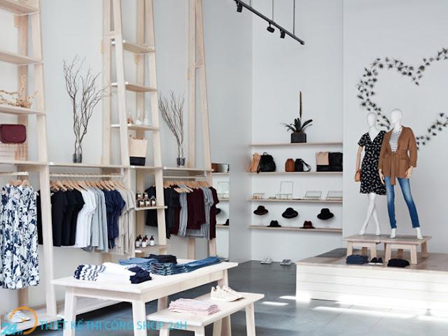đơn vị thi công thiết kế shop quần áo thời trang hiệu quả chất lượng