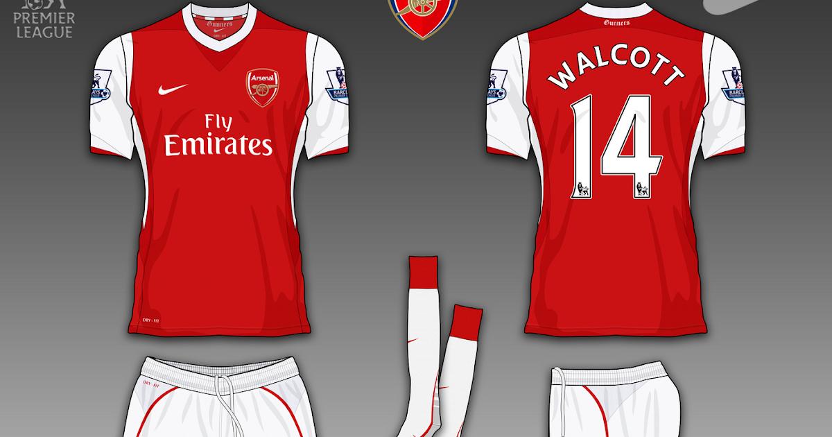Football Kits Design: Arsenal FC Fantasy Kits