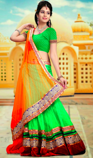 68th Republic Day Saree for Girls