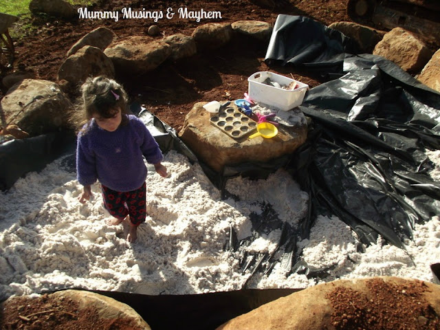 Making sandpit