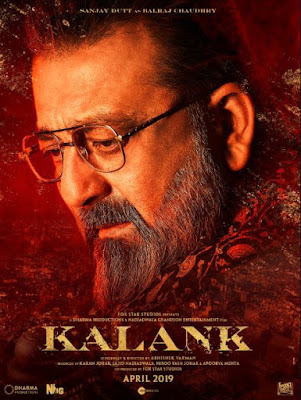 Sanjay Dutt Look in Kalank, Kalank First Poster