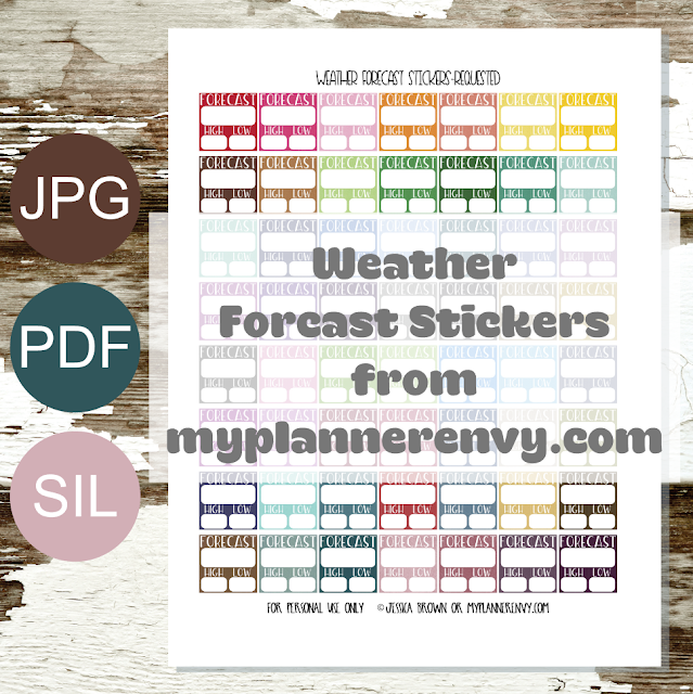 Free Printable Weather Forecast Stickers from myplannerenvy.com