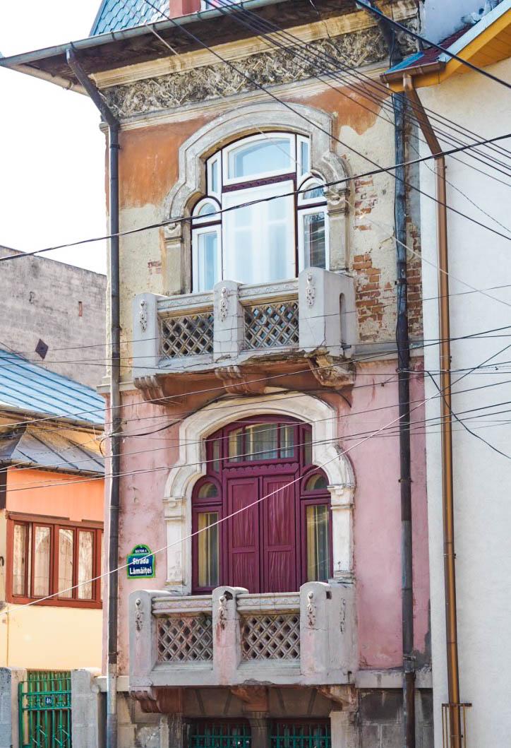 pink window shutters