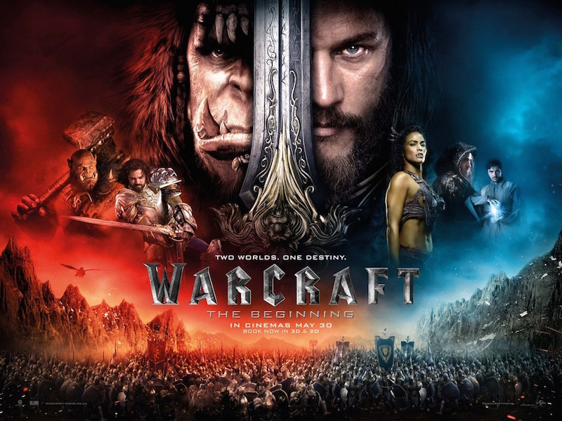 Warcraft (2016). Director: Duncan Jones Starring Travis Fimmel, Paula Patton, Ben Foster, Dominic Cooper, Toby Kebell.