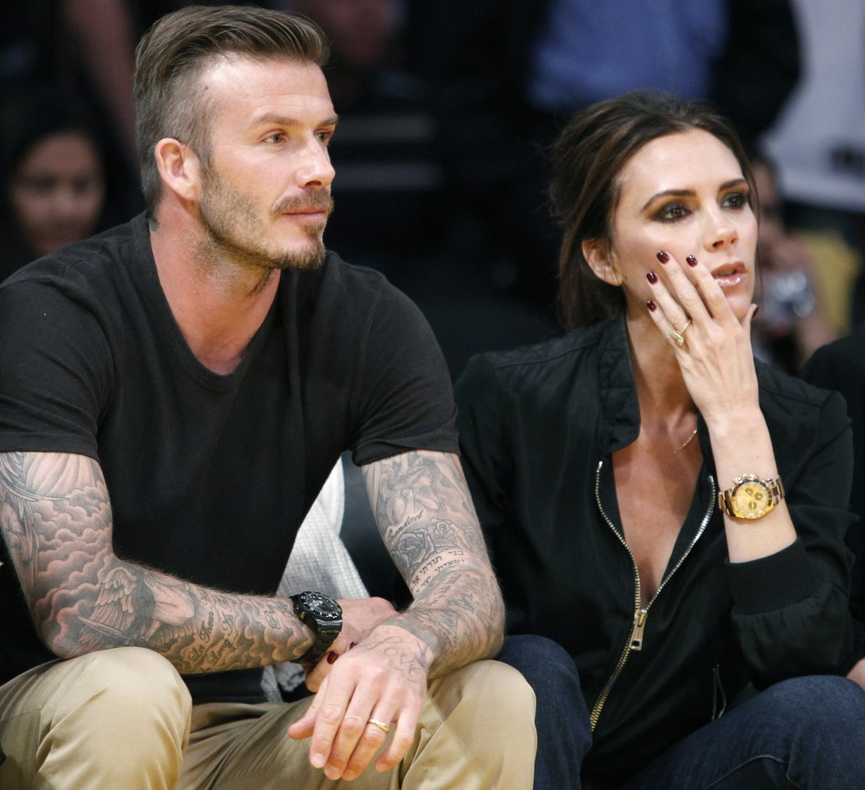 Football Stars: David Beckham With Wife and Kids New Images