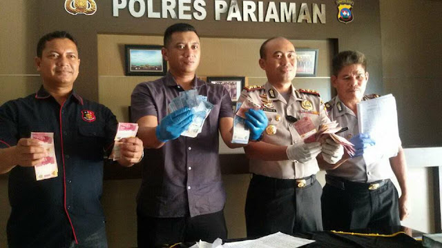 Diduga Pungli, Polisi OTT Oknum Penjaga Sekolah SMA Sungai Limau