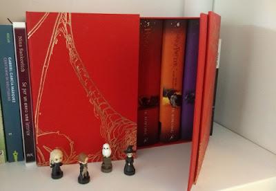 cofanetto rosso libri Harry Potter in inglese