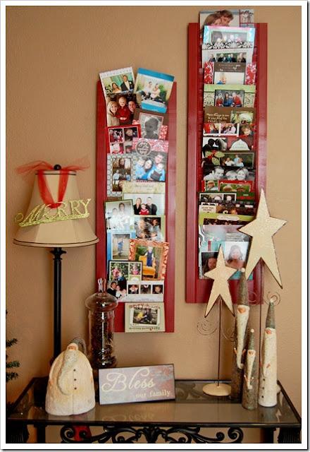 Christmas organizing christmas card display organizing - Christmas card display ideas ...