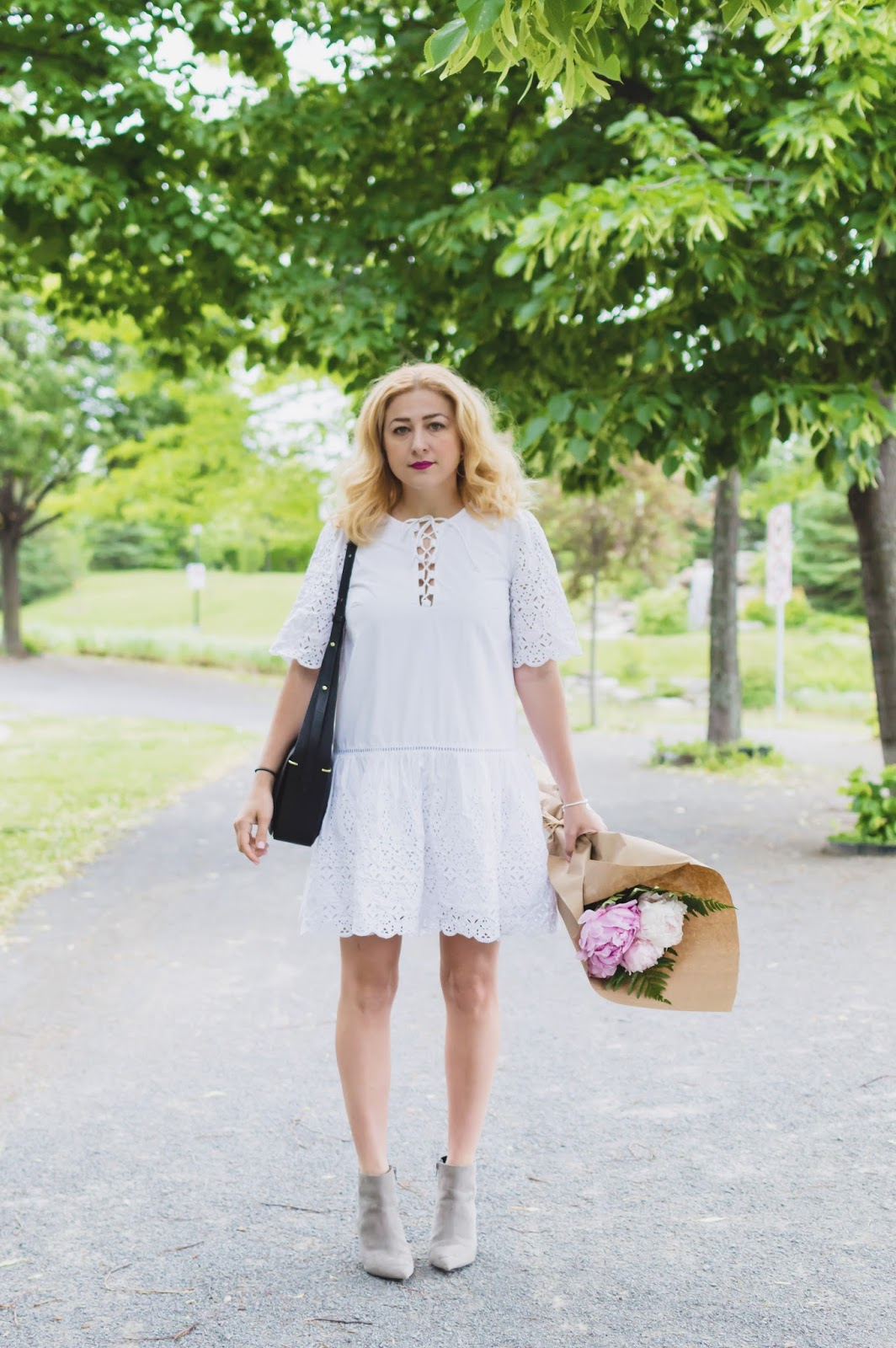 How to style a white dress