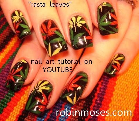 GODDESS NAILS: robin moses nail art design tutorial - YouTube - Nail Art By Robin Moses: