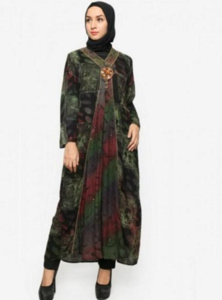46 Model Baju Batik Dress Panjang Muslim Modern Masa Kini