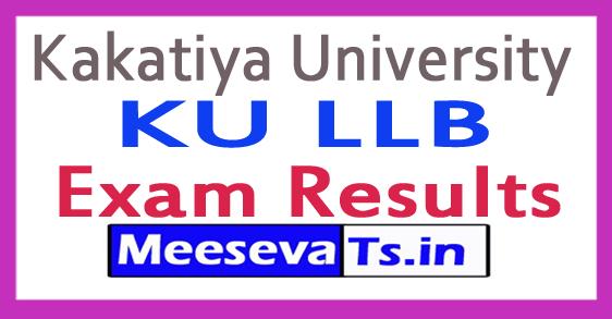 Kakatiya University KU LLB Exam Result 2017