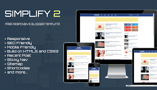 Simplify 2 Responsive Blogger template fast loading