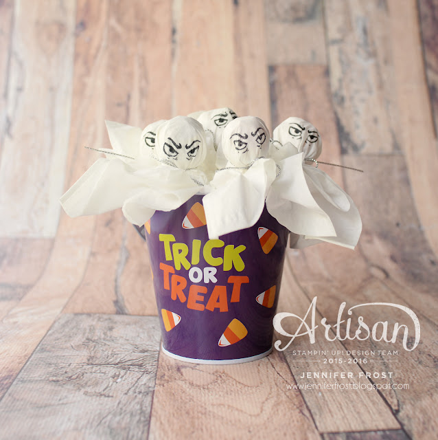 Lollipop Halloween Treats, Jar of Haunts, Papercraft by Jennifer Frost