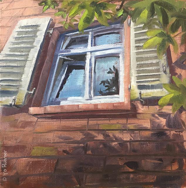 Fenster, Ölbild, pleinairmalerei