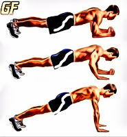 Latihan tricep push up plank