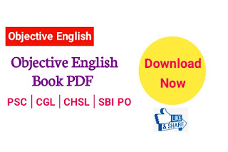 Objective English Book PDF - Complete Guide For SSC | PSC | CGL | CHSL | BANK