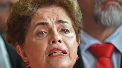 La expresidenta de Brasil, Dilma Rousseff, tras ser destituida, Brasilia, 31 de agosto de 2016.