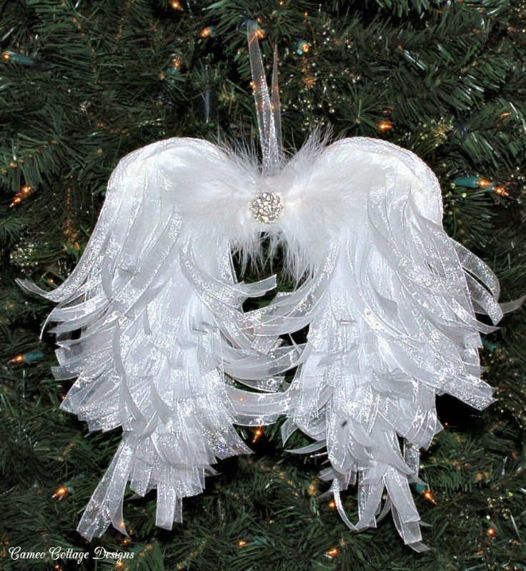 Cameo Cottage Designs Shabby Tattered Paper Angel Wings