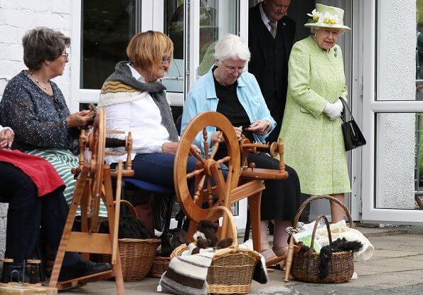 Queen Elizabeth visited Gorgie City Farm in Edinburgh on the final day of HolyroodWeek2019