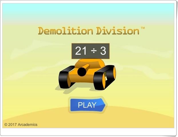 """""""Demolition Division"""" (Juego de Matemáticas de Primaria)"""