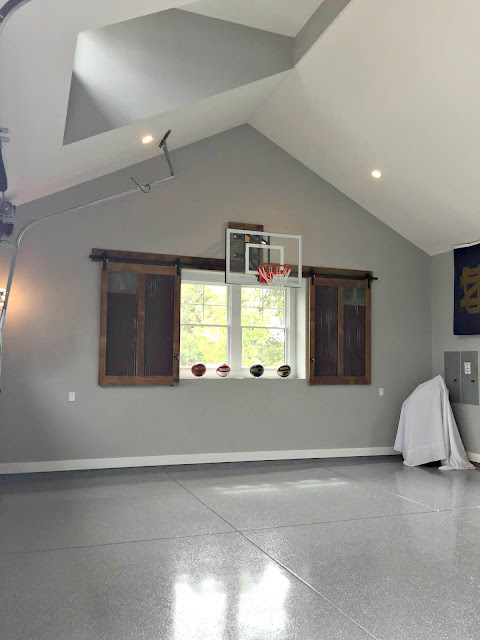 basketball in garage