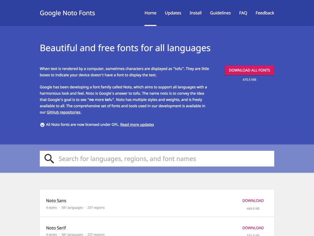 Download Font Terbaru 2016 - Google Noto Font