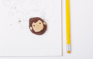 Diseño de borrador o goma para lápiz