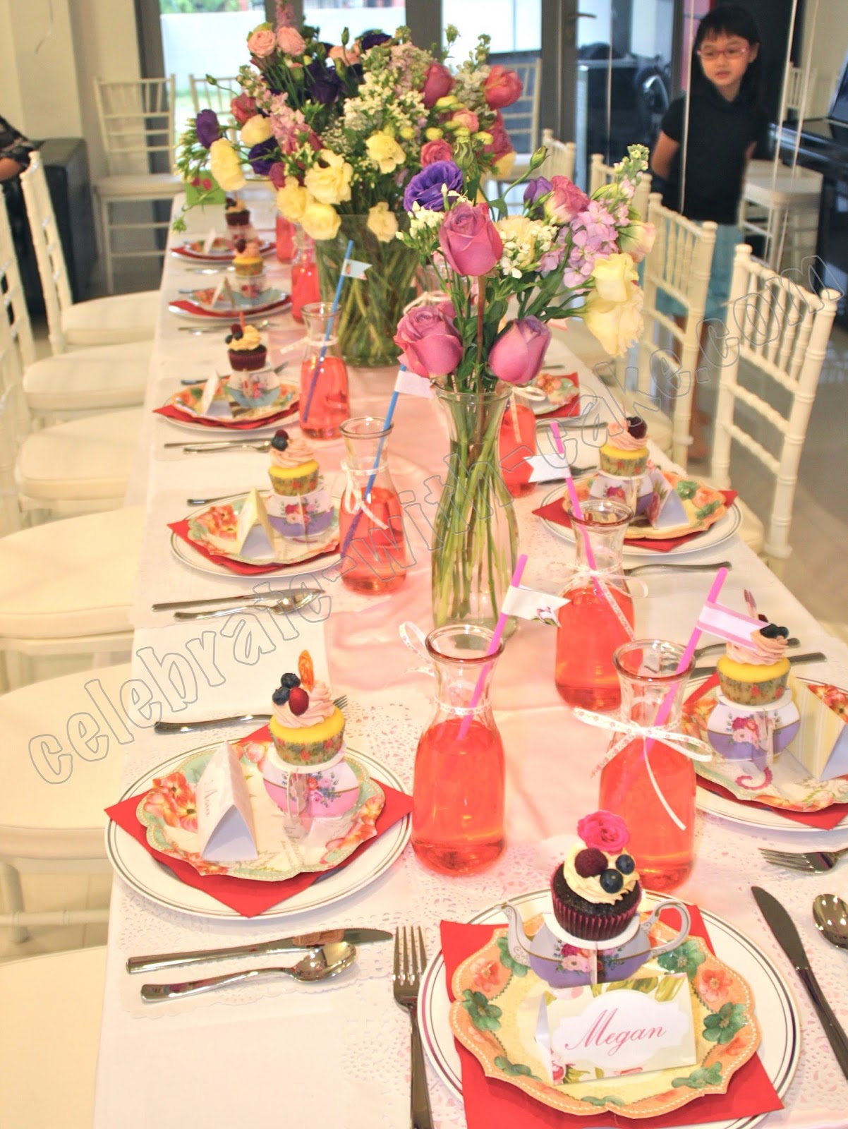 Celebrate with Cake!: Tea Party Themed Dessert Table ...